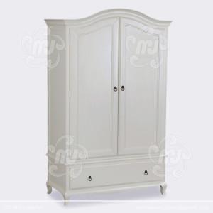 Desain Lemari Pakaian Minimalis 2 Pintu White Duco