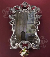 kaca cermin hias dinding bronze ukir