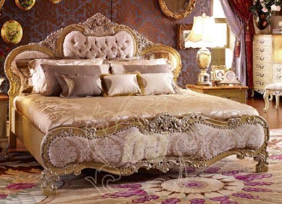 Tempat Tidur Ukir Gold Leaf