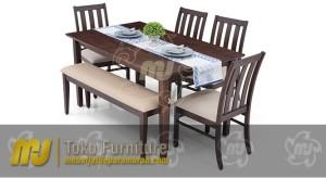 set meja makan minimalis terbaru SKM-006