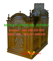 Mimbar-Masjid-Jepara-Motif-Ukiran