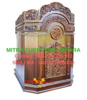 Mimbar Masjid Podium Jati Ukir