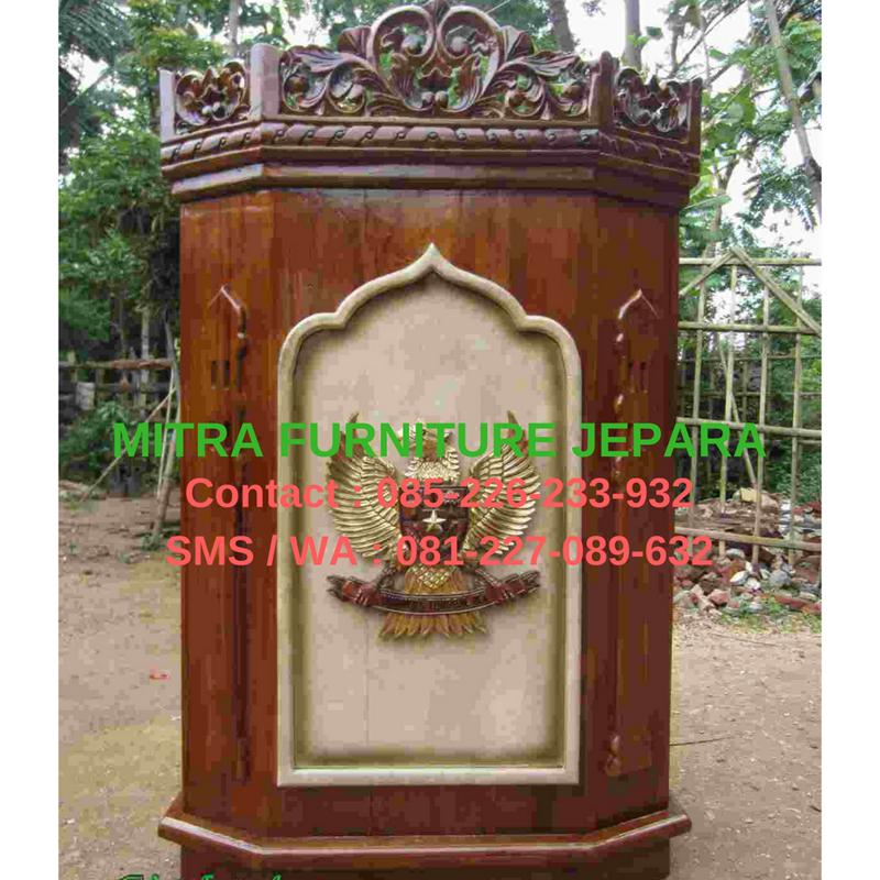 mimbar-masjid-podium-jati