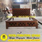 Dipan Jati Minimalis ModelKawung