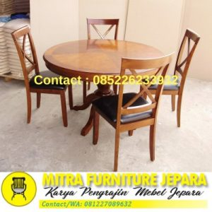 Meja Makan Kursi 4 Model Bundar
