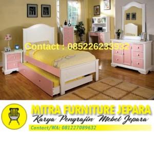 Set Kamar Tidur Anak Minimalis Pink