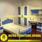 Set Kamar Tidur Minimalis Warna Biru