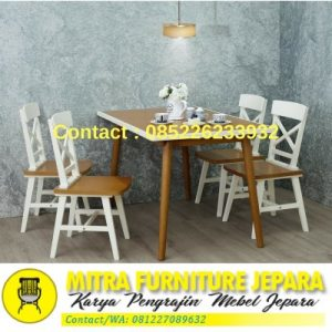 Set Meja Makan Model Cafe