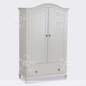 Lemari Pakaian Minimalis 2 Pintu White Duco
