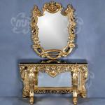 kaca cermin meja rias ukir
