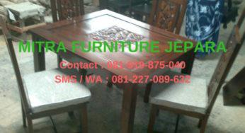 Jual Kursi Meja Makan Minimalis Bunga Mawar Mebel Jati Jepara Murah Mebel Minimalis Modern Jual Furniture Jepara