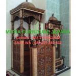 Mimbar Masjid Jati Model Kubah 7