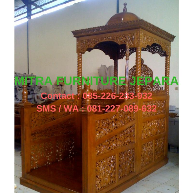 Mimbar-Masjid-Jati-Model-Ukiran