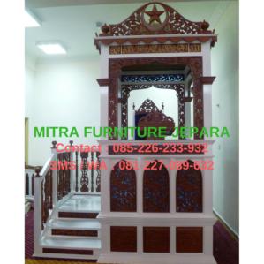 Mimbar Masjid Minimalis Kubah