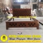 Dipan Jati Minimalis Model Kawung