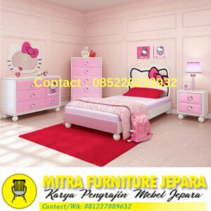 Kamar Set Minimalis Hello Kitty