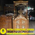 Mimbar Masjid Jati Minimalis Terbaru